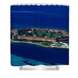 Island Prison Shower Curtain by Skip Willits