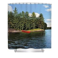 Island Retreat Shower Curtain