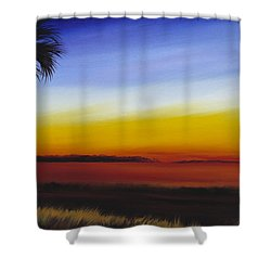Island River Palmetto Shower Curtain by James Christopher Hill