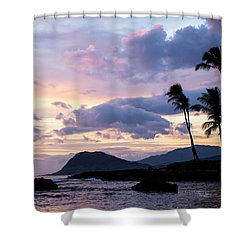 Shower Curtain featuring the photograph Island Silhouettes  by Heather Applegate