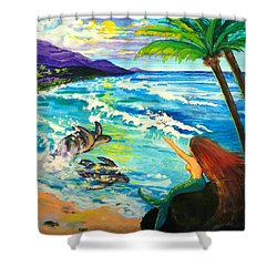 Island Sisters Shower Curtain