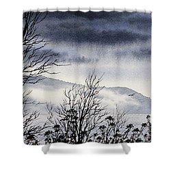 Shower Curtain featuring the painting Island Solitude by James Williamson