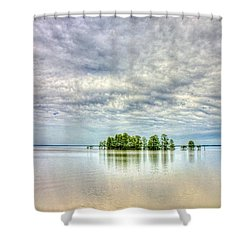 Island Storm Shower Curtain
