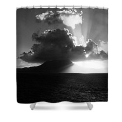 Island Sunrise 2  Shower Curtain by Perry Webster