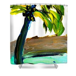 Island Time Signed Print Shower Curtain