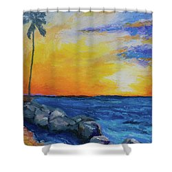 Island Time Shower Curtain by Stephen Anderson