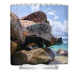 Island Virgin Gorda The Baths Shower Curtain