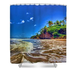 Island Wave Shower Curtain