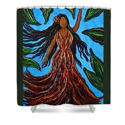 Island Woman Shower Curtain