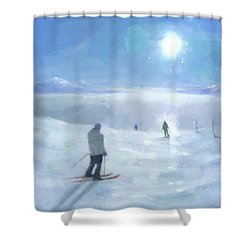Islands In The Cloud Shower Curtain by Steve Mitchell