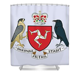 Isle Of Man Coat Of Arms Shower Curtain by Movie Poster Prints