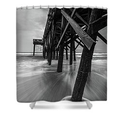Isle Of Palms Pier Water In Motion Shower Curtain