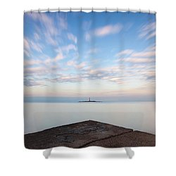 Islet Baraban With Lighthouse Shower Curtain
