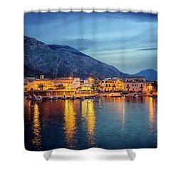 Isola Delle Femmine Harbour Shower Curtain