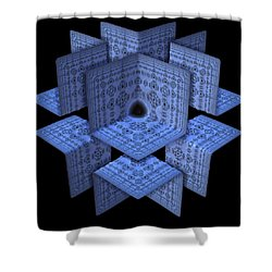 Shower Curtain featuring the digital art Isolation by Lyle Hatch