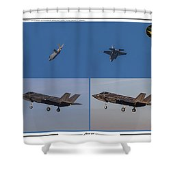 Israeli Air Force First Two F-35i Adir Shower Curtain