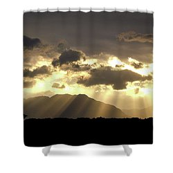 Shower Curtain featuring the photograph Israeli Desert Sunrise At Timna by Yoel Koskas