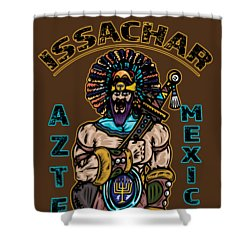 Issachar Aztec Warrior Shower Curtain