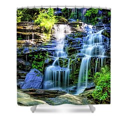 Isssawueenna Falls In Hdr Shower Curtain