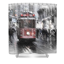 Istambool Historic Tram Shower Curtain