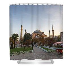 Istanbul City Center Shower Curtain by Yuri Santin