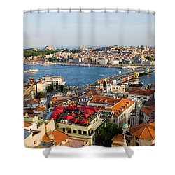 Istanbul Cityscape Shower Curtain