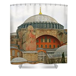 Shower Curtain featuring the photograph Istanbul Dome by Munir Alawi