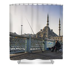 Shower Curtain featuring the photograph Istanbul From The Galata Bridge by Yuri Santin