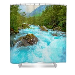 Shower Curtain featuring the photograph Istra River by Rose-Maries Pictures