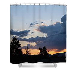 Shower Curtain featuring the photograph It Cometh by Marie Neder