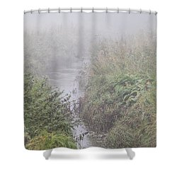 Shower Curtain featuring the photograph It Flows From The Mist by Odd Jeppesen