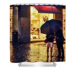 It Is Raining In Firenze Shower Curtain