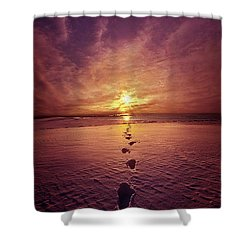 Shower Curtain featuring the photograph It Is Then That I Carried You by Phil Koch