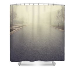 It Is Unclear What Lies Ahead Shower Curtain