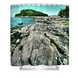Shower Curtain featuring the photograph It Rocks  by Aimelle