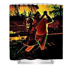 Shower Curtain featuring the photograph It Takes Two To Tango by Al Bourassa