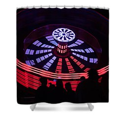 Shower Curtain featuring the photograph It Was All A Happy Blur by Lora Lee Chapman