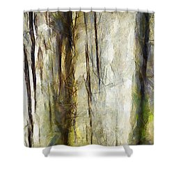 Shower Curtain featuring the painting It Was Like Putting Myself In A Trance  by Sir Josef - Social Critic - ART
