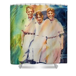 It Was Paradise Here With You Shower Curtain