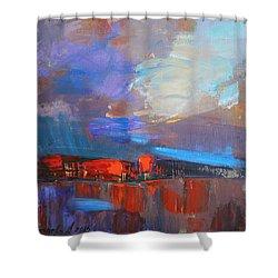 It Will Soon Burst Shower Curtain by Anastasija Kraineva