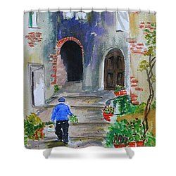 Italian Alleyway Shower Curtain