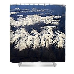 Italian Alps Shower Curtain by David and Lynn Keller