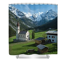 Italian Alps Hidden Treasure Shower Curtain