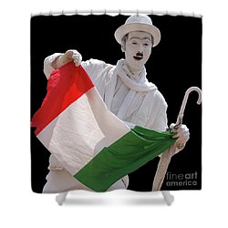 Shower Curtain featuring the photograph Italian Charlie Chaplin by Frank Stallone