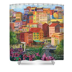 Shower Curtain featuring the painting Italian City by Anne Dentler