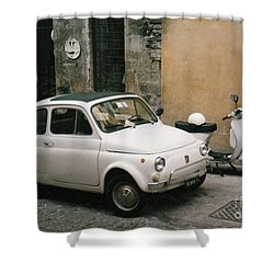 Shower Curtain featuring the photograph Italian Classic Commute  by Frank Stallone