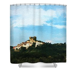 Italian Countryside Shower Curtain by Kathleen Scanlan