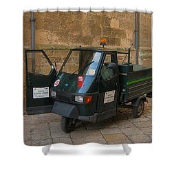 Italian Garbage Truck Shower Curtain