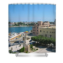 Italian Harbor- Brindisi, Apulia Shower Curtain