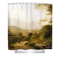 Italian Landscape Shower Curtain by Joseph William Allen